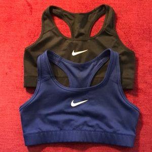 Lot of 2 Nike Pro women's sports bras (Medium)